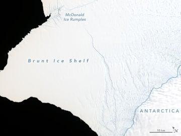La grieta de la Antártida a 23 de enero de 2019