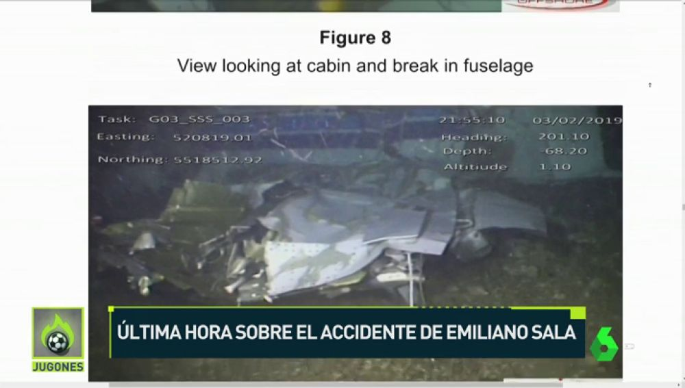 Nuevas imágenes del accidente de Emiliano Sala: el avión se partió en tres trozos