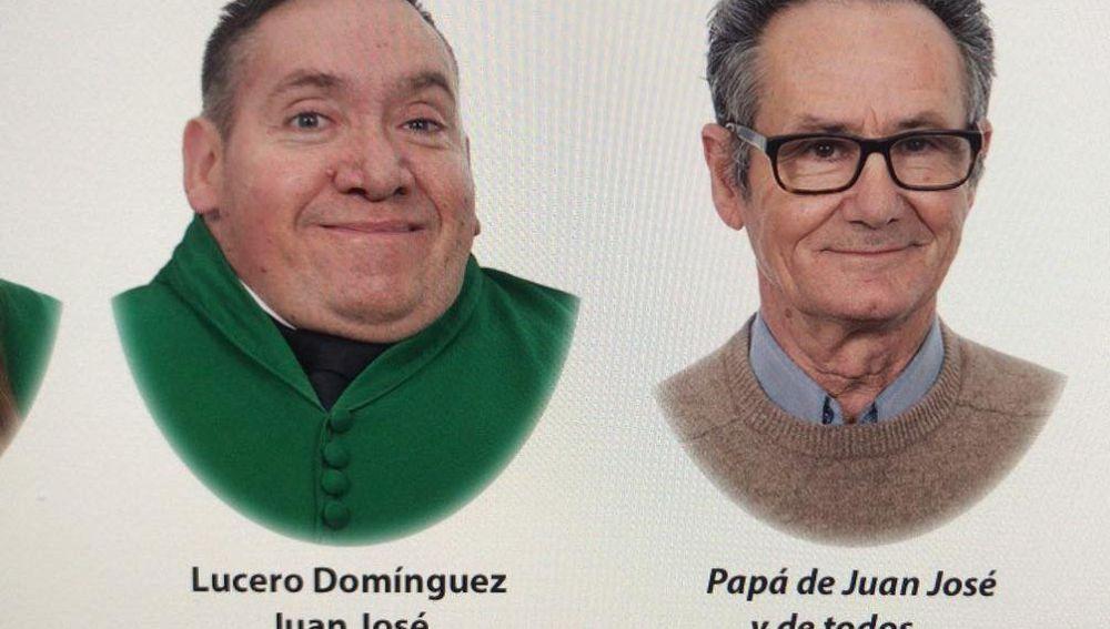Juan José y su padre Juan en la orla