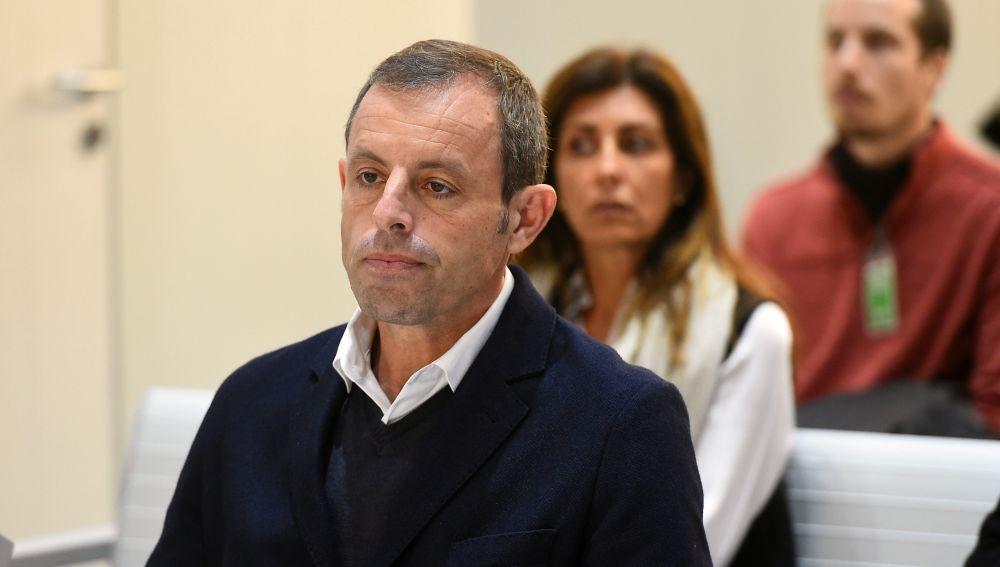 Sandro Rosell, en su comparecencia ante el juez