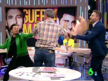 """Frank Blanco y Bustamante, a tortazos en Zapeando: """"David se te ha ido de las manos"""""""