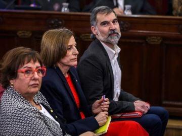 Jordi Cuixart y Carme Forcadell