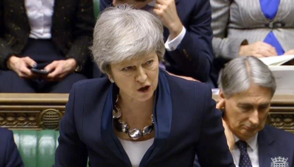 Imagen de archivo de la primera ministra británica, Theresa May