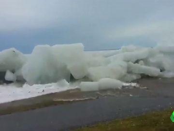 Marea de hielo en el río Niágara