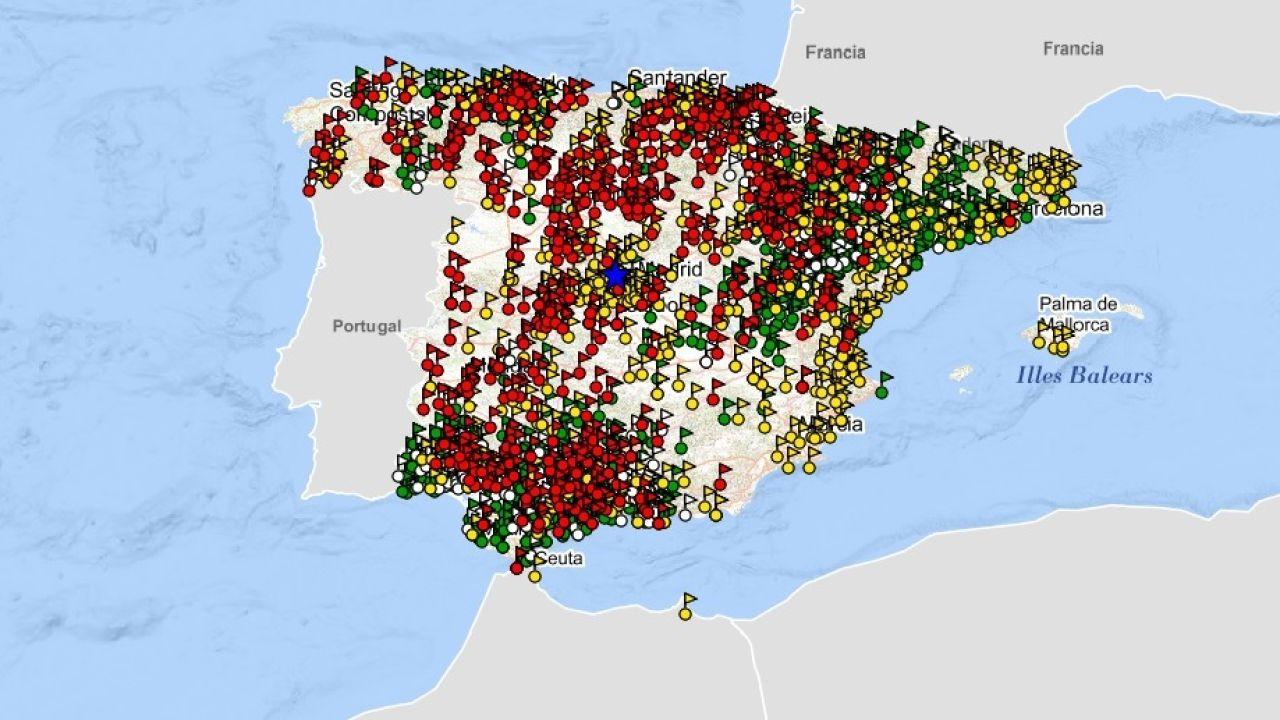 Mapa Bandos Guerra Civil Española.El Mapa De La Verguenza En Espana Todas Las Fosas Comunes