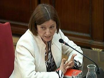 La expresidenta del Parlament Carme Forcadell durante su declaración