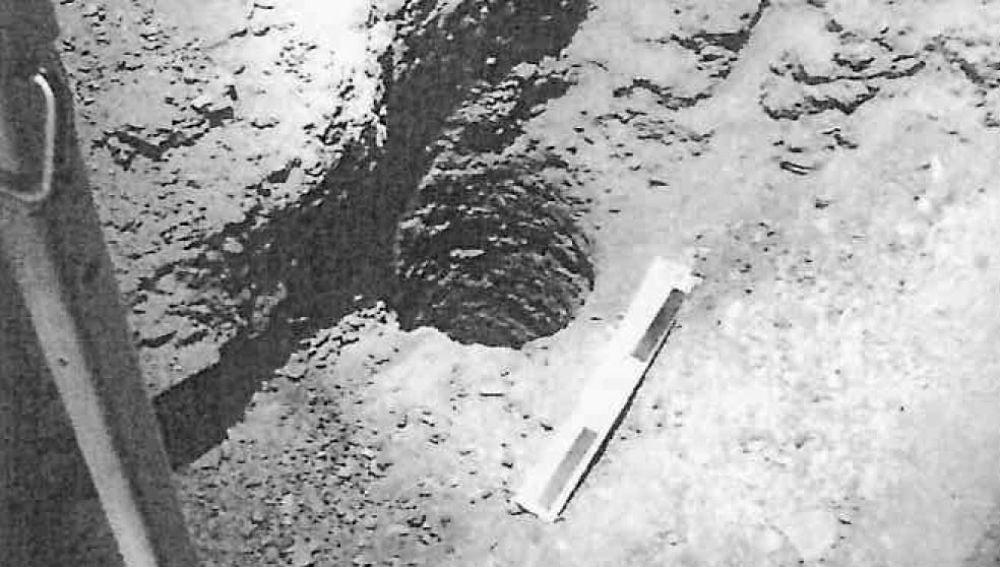 Imagen del pozo tras la caída de Julen incluída en el atestado de la Guardia Civil