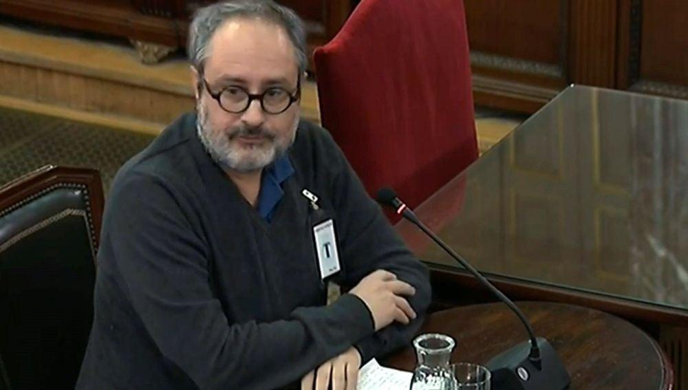 El exdiputado de la CUP Antonio Baños declarando como testigo en el juicio del 'procés'.