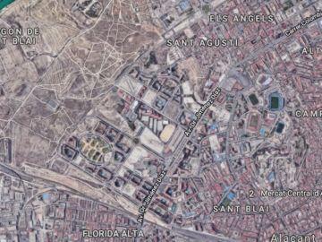 Zona donde ha ocurrido el accidente