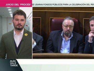 """Gabriel Rufián : """"O nos echamos la legalidad y la Constitución a la cabeza o dialogamos"""""""