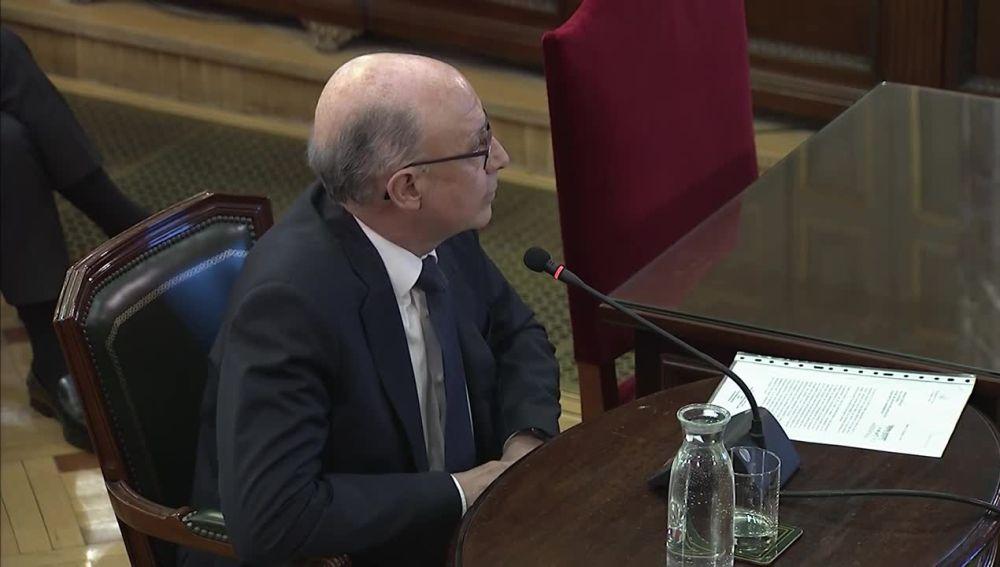 El exministro Cristóbal Montoro en el juicio del 'procés'