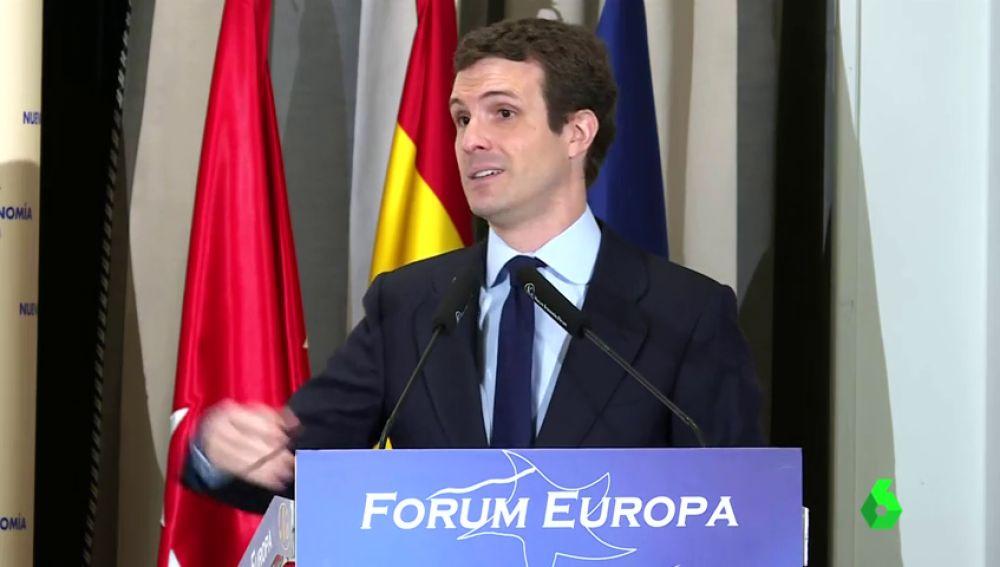 """Pablo Casado: """"En el último gobierno del Partido Popular se ha reducido la brecha salarial cinco puntos"""""""
