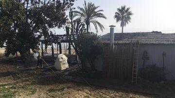 El chiringuito calcinado en Marbella