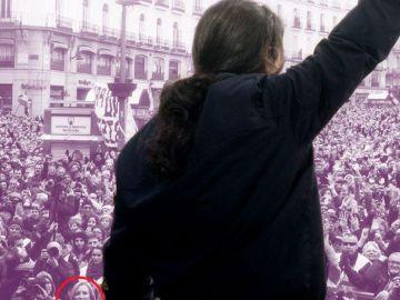 Carmen Lomana se cuela en el cartel de Podemos