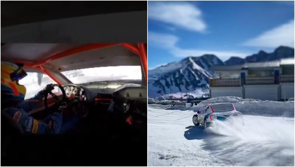 Fernando Alonso conduce sobre la nieve con los G-Series