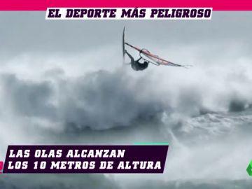 El torneo de windsurf definitivo: vientos de 100 kilómetros por hora y olas de 10 metros