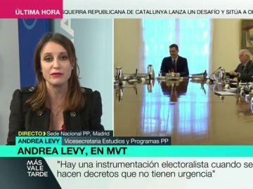 """Andrea Levy ataca los 'viernes sociales' de Sánchez: """"El PSOE confunde el Consejo de Ministros con un Comité Electoral"""""""