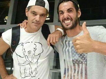 Frank Cuesta junto a Santi Trancho