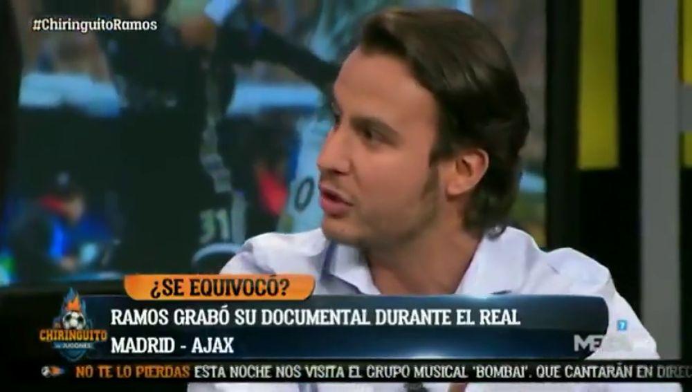 """Juanfe Sanz, en 'El Chiringuito': """"La grabación del documental de Sergio Ramos se cortó con el 0-2 del Ajax"""""""