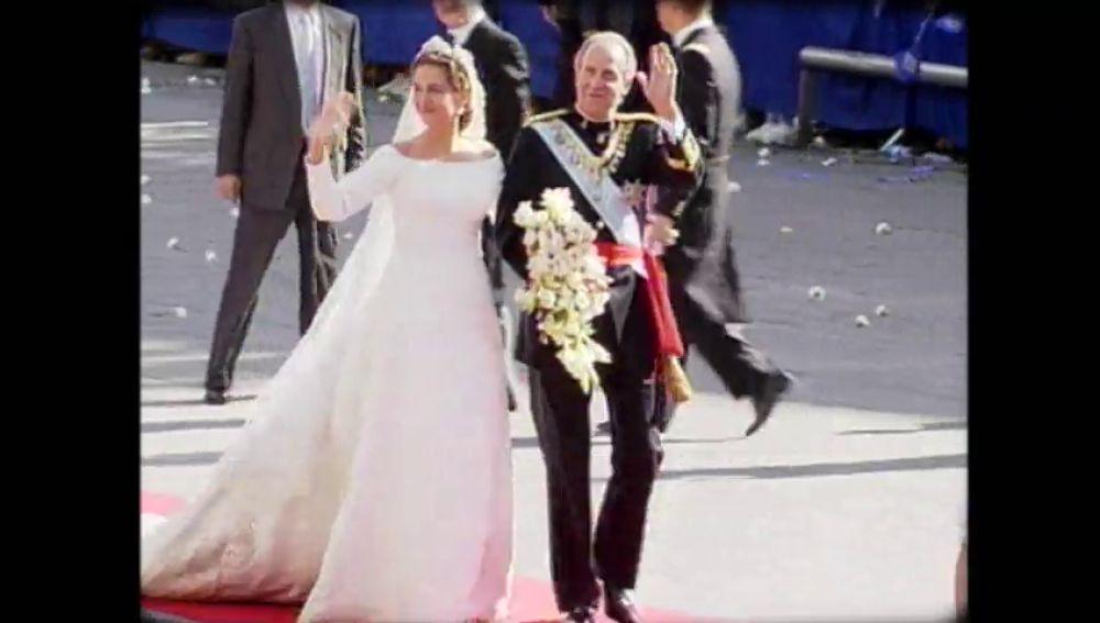 La boda de la infanta Cristina y Urdangarin en 1997: un enlace que contó 200.000 testigos en Barcelona
