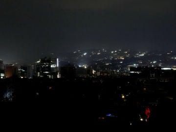 Vista de Caracas durante el apagón nacional