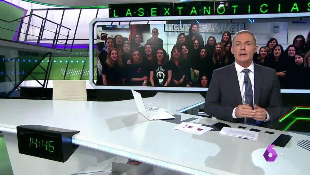Las periodistas de laSexta paran por la huelga del 8M