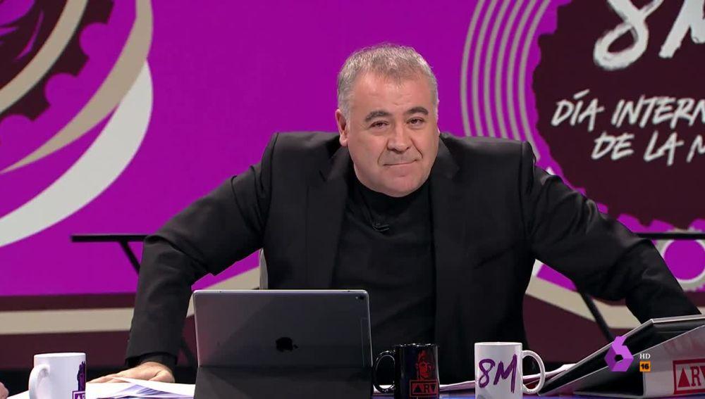 Antonio García Ferreras, en su alegato por el 8M