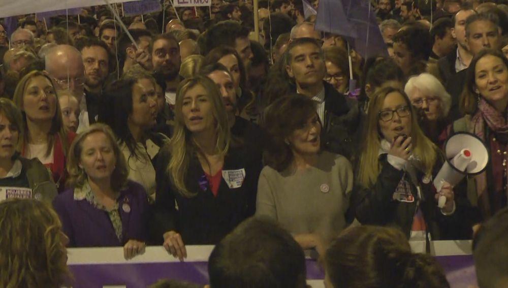Ministras y esposa de Pedro Sánchez