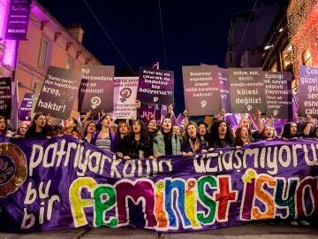 Manifestación del 8m en Turquía