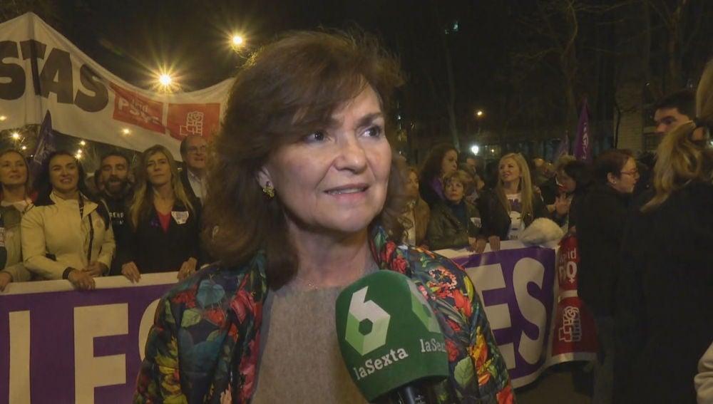 Carmen Calvo habla con laSexta