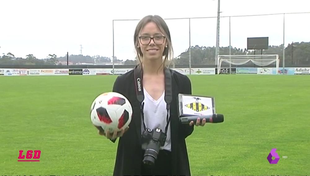 Cristina Serantes, la 'mujer orquesta' del fútbol gallego