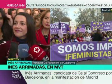 Inés Arrimadas habla con los medios
