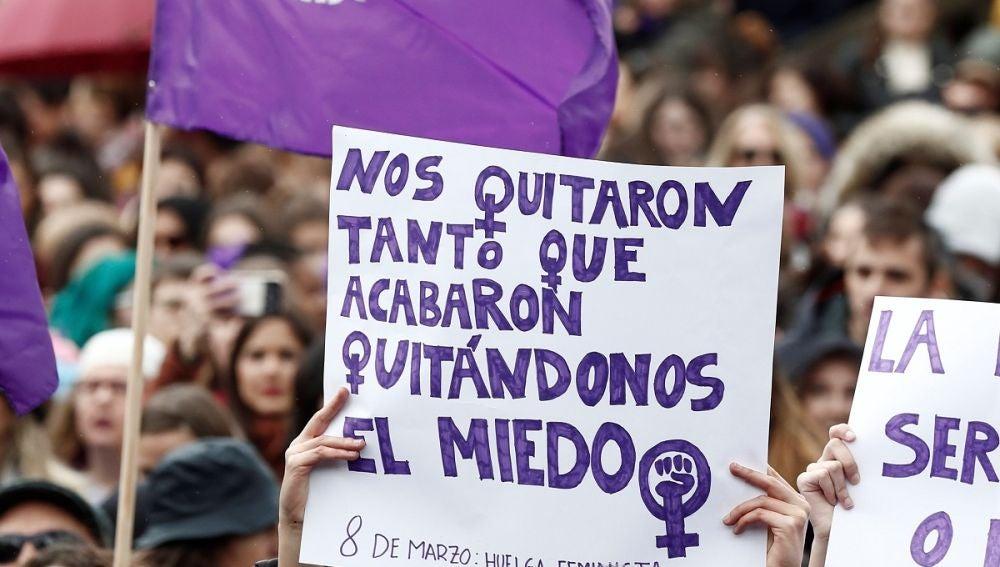 Huelga feminista en Pamplona