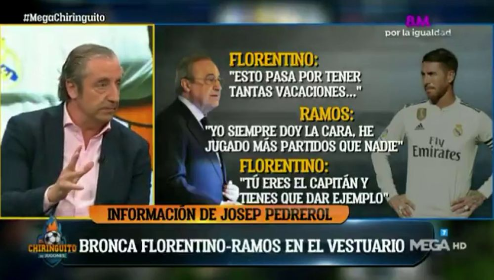 ¿Cómo fue la bronca entre Ramos y Florentino en el vestuario? Josep Pedrerol desvela los detalles