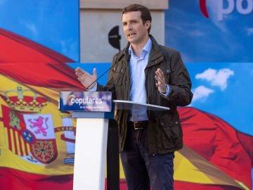 El presidente del PP Pablo Casado