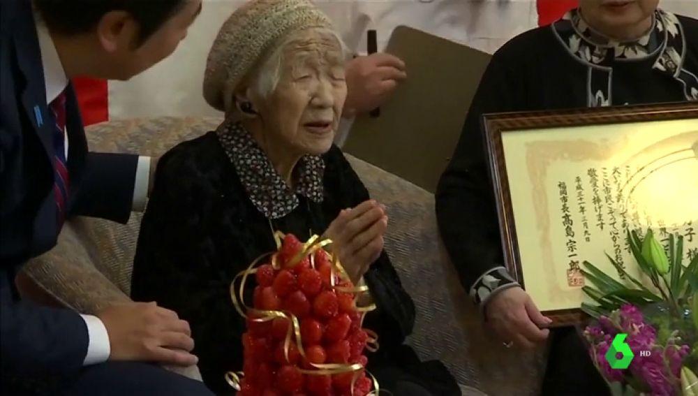 Imagen de la mujer más anciana del mundo