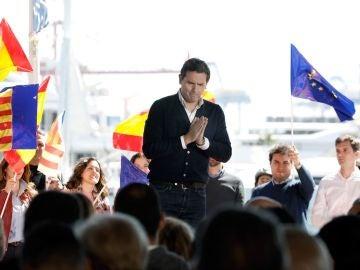 """Rivera durante el """"Encuentro Ciudadano"""" en la Marina de Valencia"""