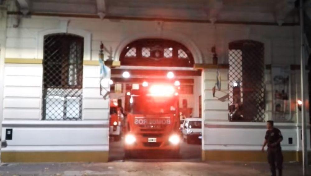 Imagen de un camión de bomberos de Argentina