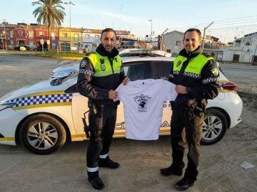 Policías sevillanos solidarios
