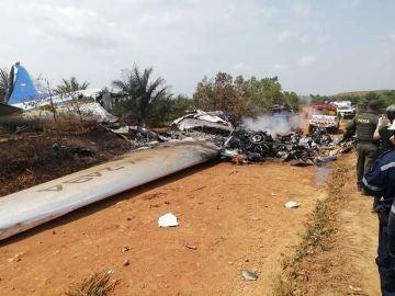 Fotografía cedida que muestra el lugar del accidente