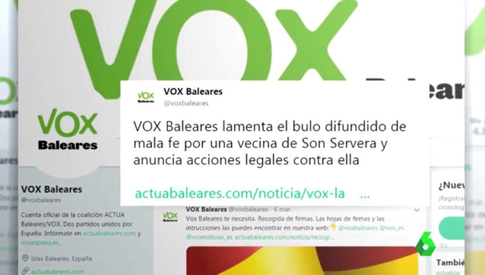 """Actúa denunciará a Vox por """"incitar al odio"""" tras difundir un bulo sobre una agresión a tres chicas"""