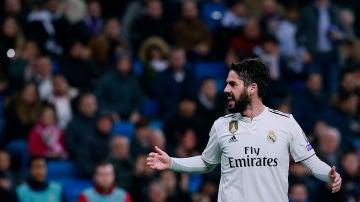 Isco, durante un partido con el Real Madrid