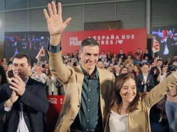 Pedro Sánchez en un acto del PSOE en A Coruña