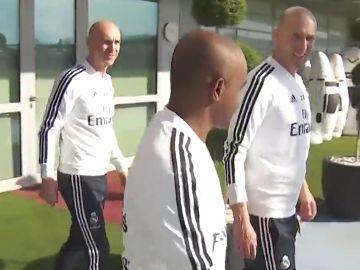 Primeras imágenes de Zidane en la ciudad deportiva tras su vuelta al Real Madrid