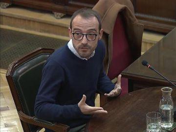 Jaume Mestre, responsable de Difusión Institucional de la Generalitat, durante el juicio del 'procés'