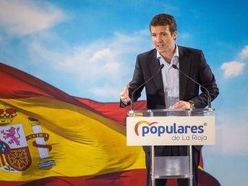 Pablo Casado, en el acto de presentación de candidaturas del PP en La Rioja.