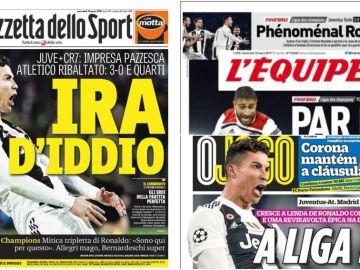 La prensa mundial alaba la actuación de Cristiano Ronaldo