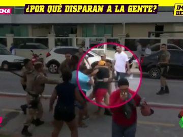 Disparos a quemarropa, gas pimienta, porrazos... Polémica en Brasil tras la actuación policial tras un partido de fútbol playa
