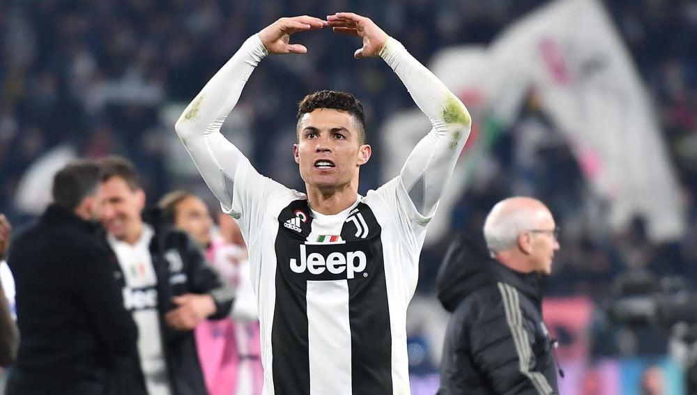 Cristiano Ronaldo celebra el triunfo de la Juventus de Turín