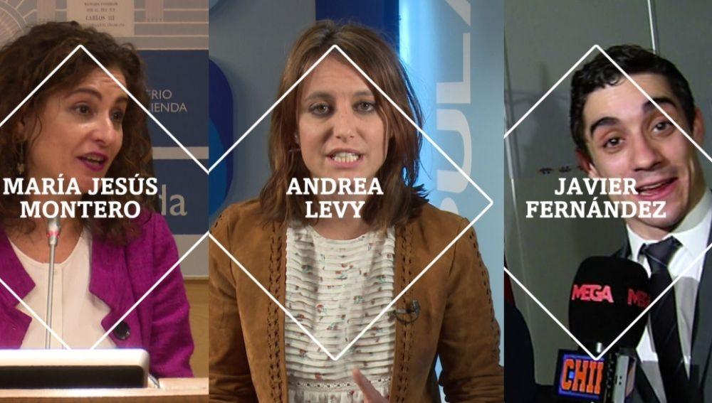 María Jesús Montero, Andrea Levy y Javier Fernández